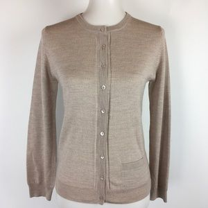 Pure Collection Cardigan Wool Stretch Button Front